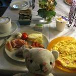 朝食のオムレツ、美味しかったです