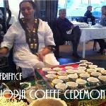 Ethiopian coffee ceremmony