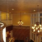 Looking down to foyer / front desk