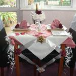 Dining Room Table set for a Celebration
