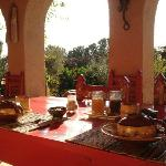 Breakfast on the back patio