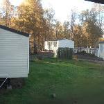 view from caravan