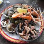 """plateau de fruits de mer """"au vieux safran"""""""