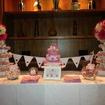 The gorgeous candy table.