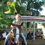 Jacobsen on horseback at Hanna Stables, Belize