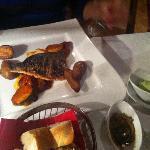 Еще одно блюдо: красиво но рыба суховата