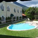 Patio overlooked the pool