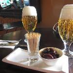 Tapas wih Cuzquena (peruvian beer)