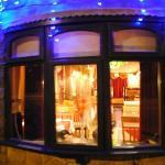 Peek through cloves window towards dining area