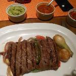 Arrachera (skirt steak) entree at La Estancia