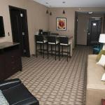 Suites include whirlpool tub and oversized double shower, separate living area, TV's & snack bar