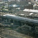 View of Shinkansen from room