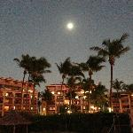 Moon over the resort (picture taken from vacant lot)