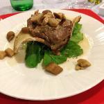 filetto ai funghi servito a cena
