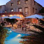 Restaurant Argeles Auberge du Roua by night