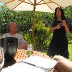 Radel-Stop beim Weingut Stark-Condé für ein Weintasting