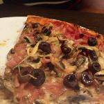 """Capricciosa Pizza"" way way too much topping!!"