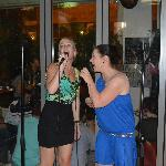 Karaoke at the sports cafe