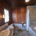 Bathroom in our lodge at Keekorok