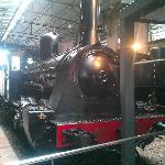Vieja locomotora en el Museo del Ferrocarril
