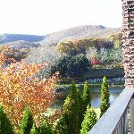 Fall foliage and view from the porch
