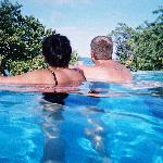the honeymooners enjoying the view