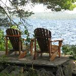 Used these chairs outside our cabin alot for a glass of wine at sunset