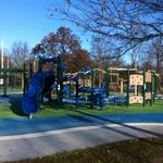 new playground with 2 distinct age grouped structures