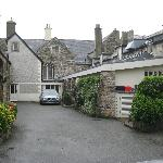 back entrance to the pub