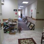 Thrift store on first floor
