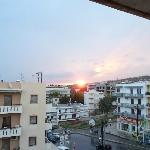 """Vue depuis le balcon de la chambre """"Soleil levant"""""""