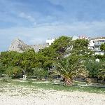 Hotel Plaza Omis Croatia from the Beach