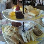 """High Tea"" $17.99 for this?! Compare to World Traveler Dude's High Tea pic. I got less than half"