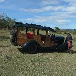 An original safari car, withness of history