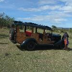 An original safari car, withness of history
