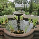 Fountains in garden
