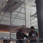 Construction going on in lobby