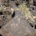 Petroglyphs at the monument