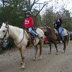 We were comfortable on the horses