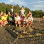 Sandcastles are popular at Shing Wako Resort Brainerd MN