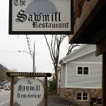 The Sawmill sign