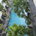 piscine vue de notre chambre