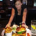 The bacon cheddar burger