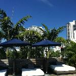 Free cabanas at roof top pool