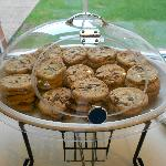 complimentary cookies.