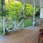 On the verandah looking out -a lovely peaceful spot to relax