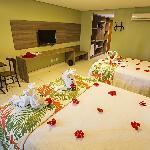 Apartamento com duas camas de casal