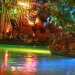Kiddie pool at night