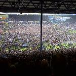 More than 38,000 Sheffield Wednesday fans celebrate after promotion to the Championship.