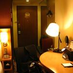 Writing table and door of the room